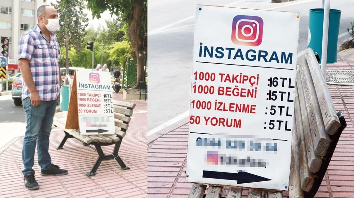 Sokak tezgahında takipçi satıyor! 'Gel vatandaş gel bin takipçi 16 TL'