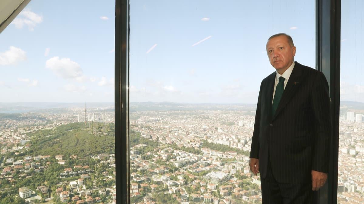 Başkan Erdoğan yapımı devam eden Çamlıca Kulesi'ni inceledi