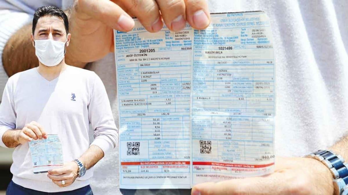 İzmirliye 3 ayda 1400 TL su faturası