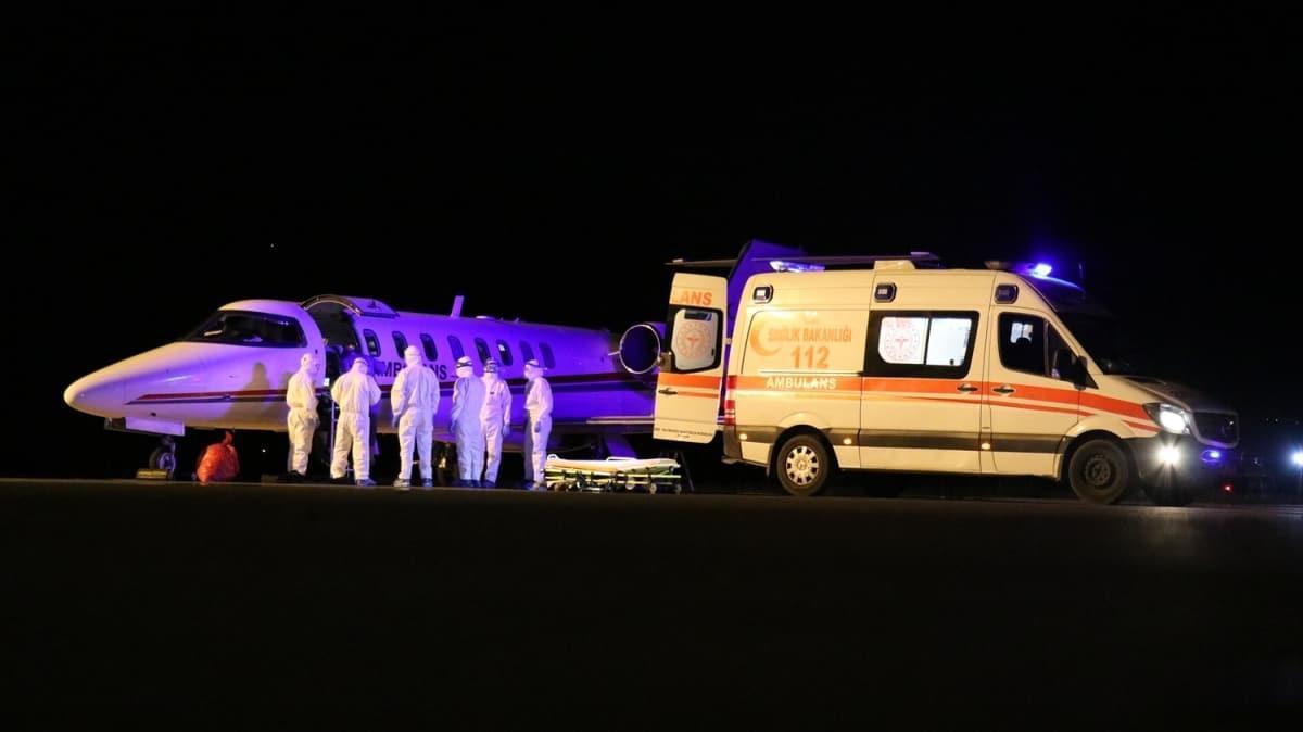 Koronavirüs hastası Türk vatandaşları ambulans uçakla Rusya'dan yurda getirildi