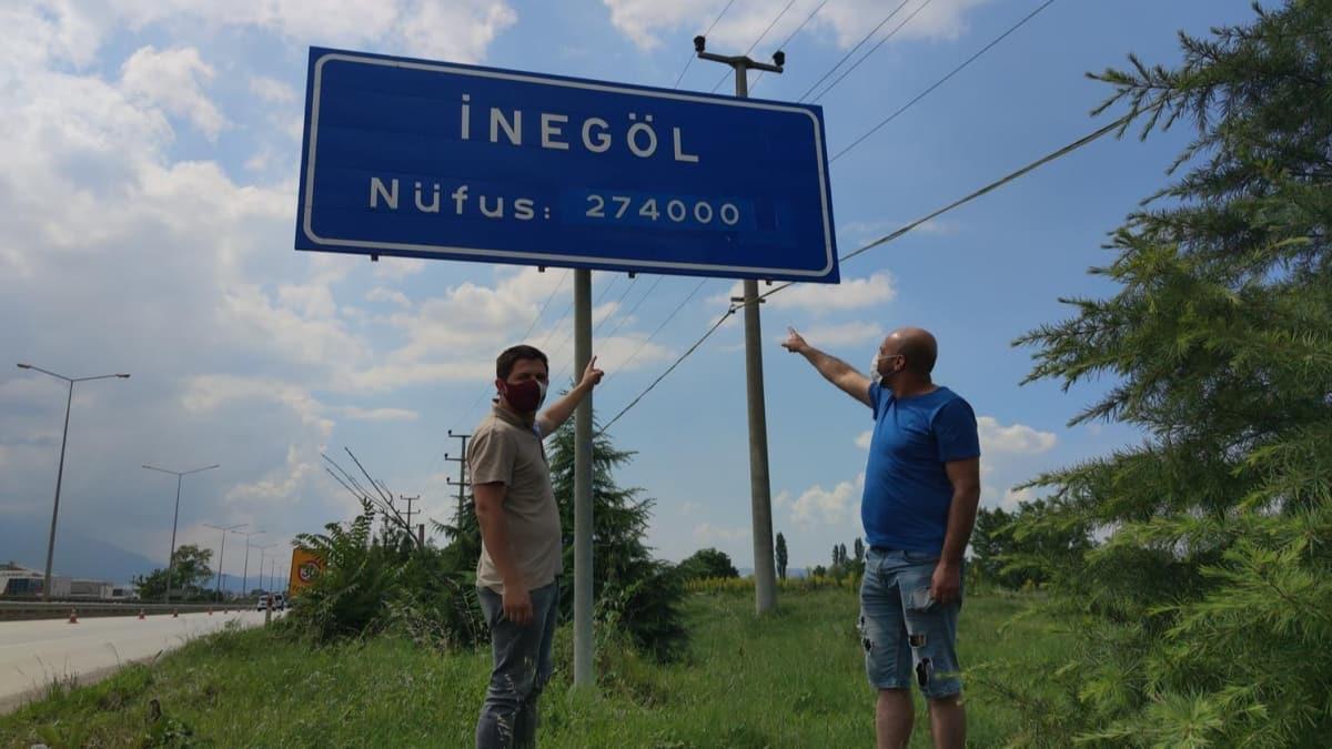 İnegöl'de nüfus tabelalarındaki fark herkesi şaşırttı: Bu kadar insan nereye gitti