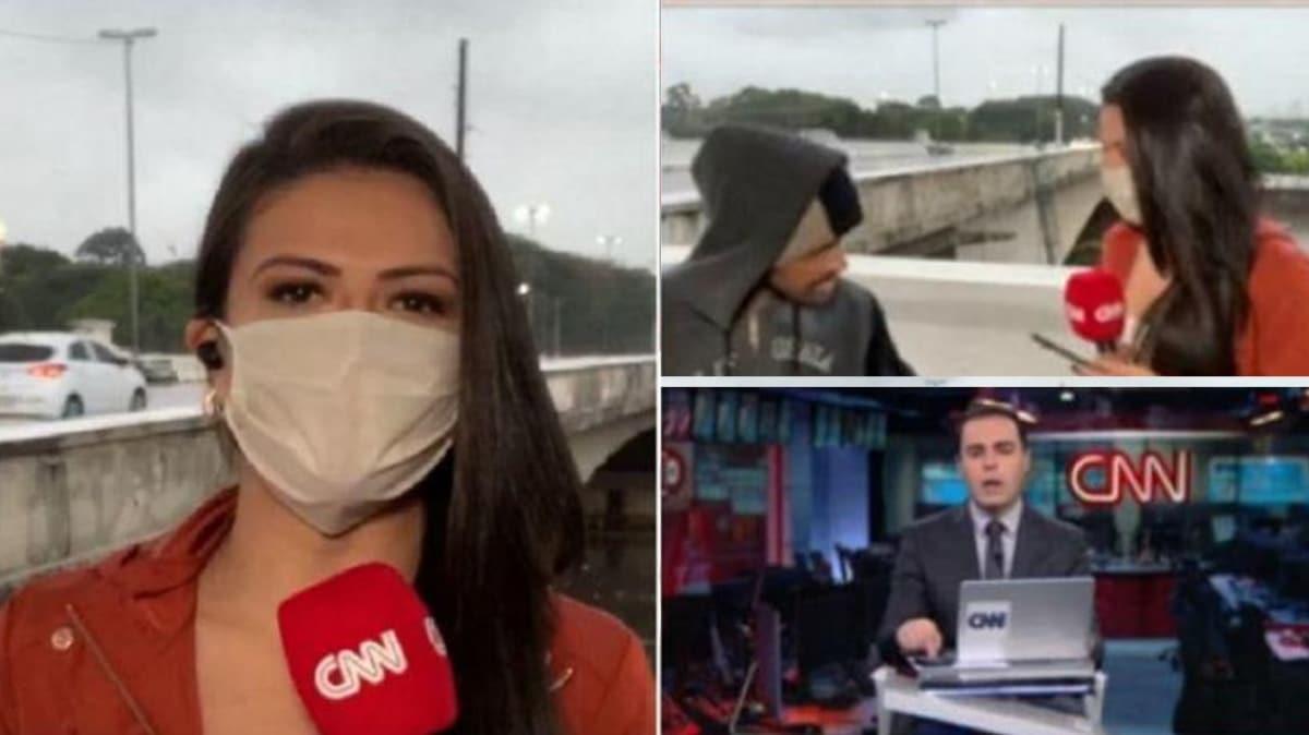 CNN muhabiri canlı yayında gasp edildi