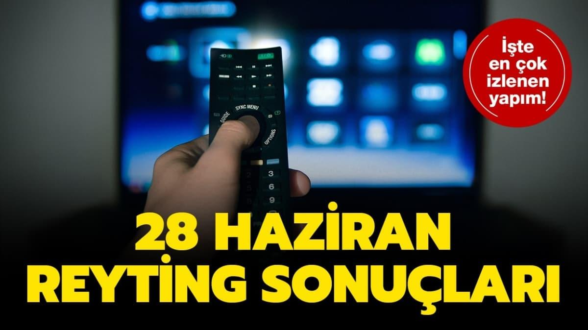 28 Haziran 2020 TV reyting sonuçları yayında!