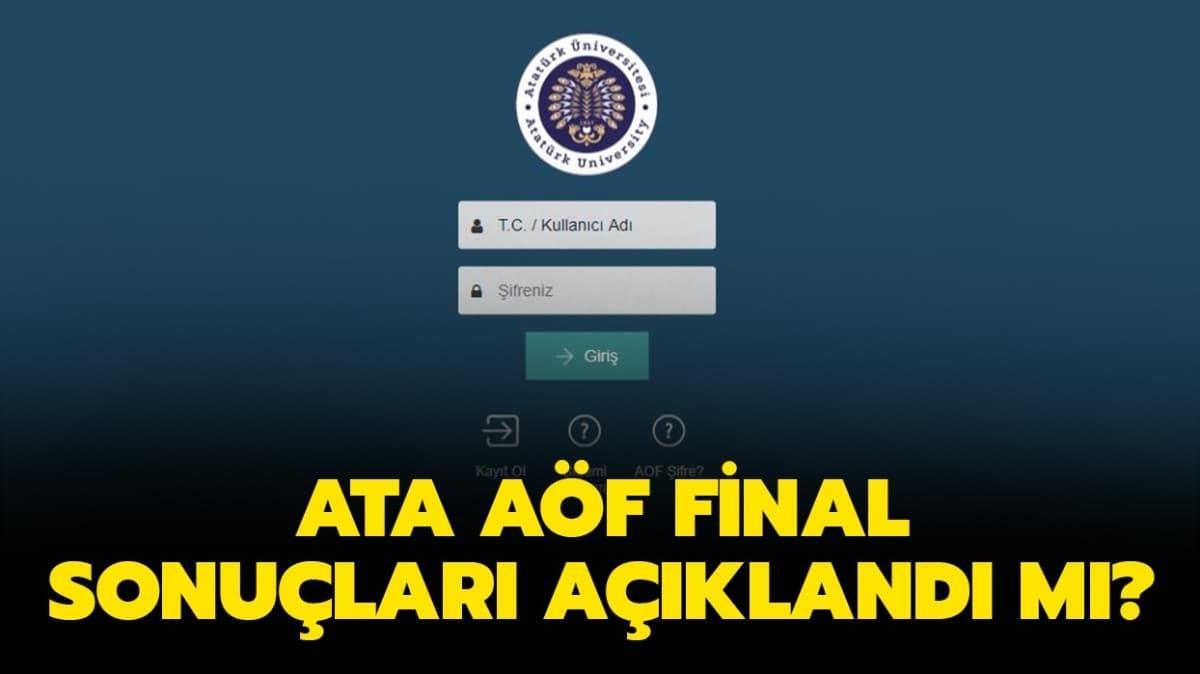 """ATA AÖF final sonuçları 2020! ATA AÖF final sınavı sonuçları ne zaman açıklanır"""""""