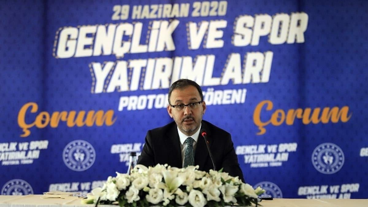 Bakan Kasapoğlu'ndan Çorum Stadı müjdesi