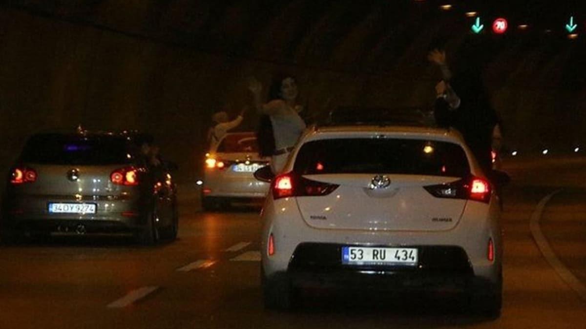 İstanbul'da pes dedirten görüntü... Asker eğlencesi için tüneli kapattılar!