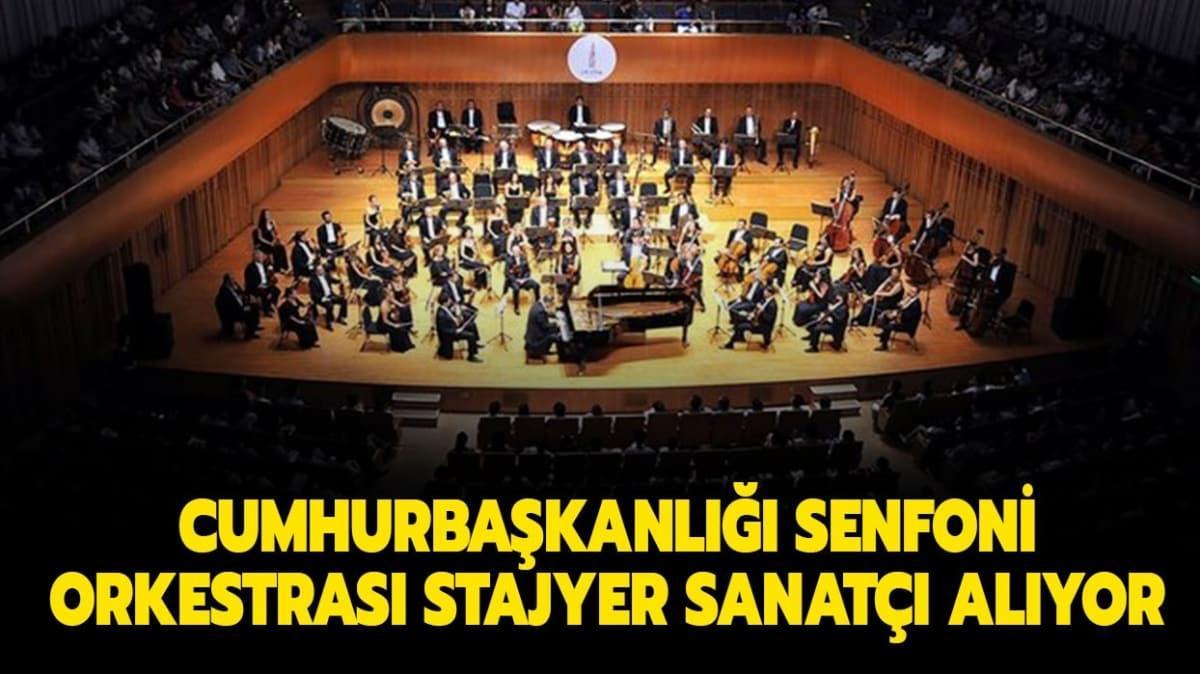"""Cumhurbaşkanlığı Senfoni Orkestrası alım yapıyor! Cumhurbaşkanlığı Senfoni Orkestrası alım şartları nelerdir"""""""