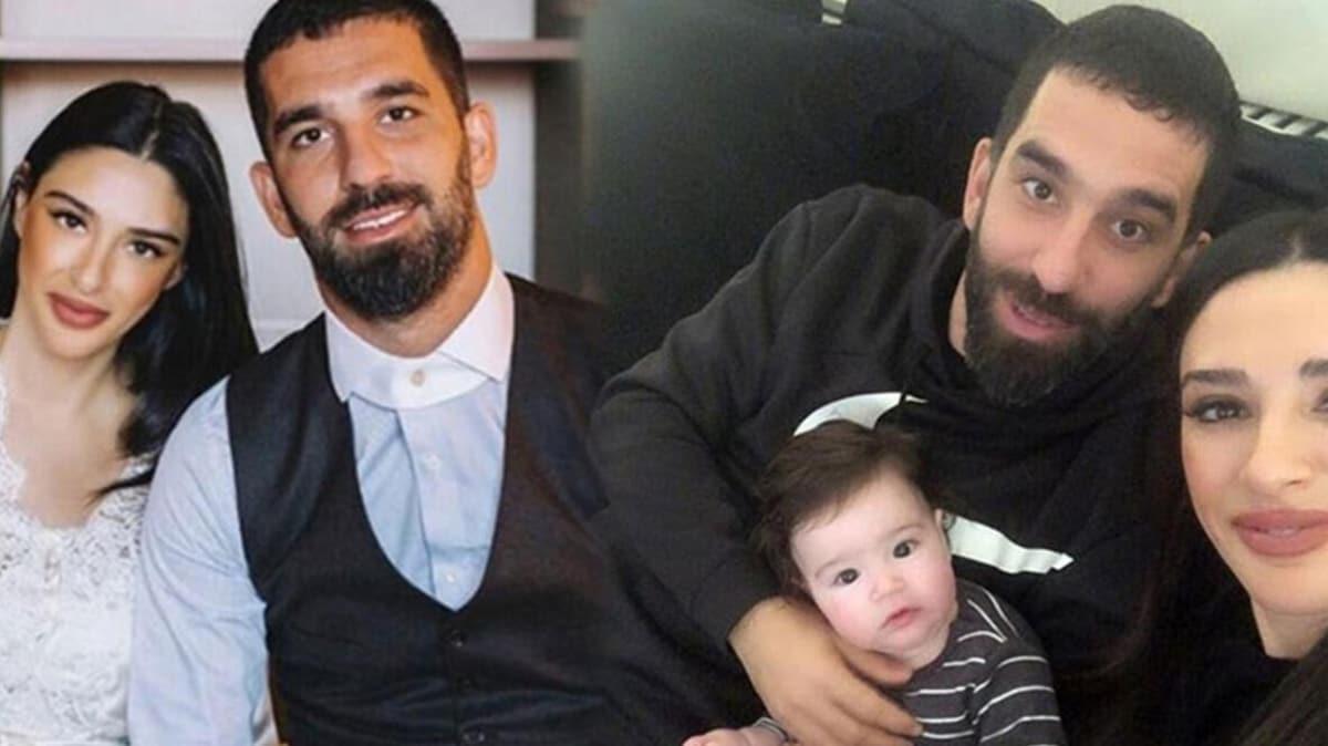 Arda Turan ve Aslıhan Doğan Turan ikinci bebeklerini kucaklarına aldı!