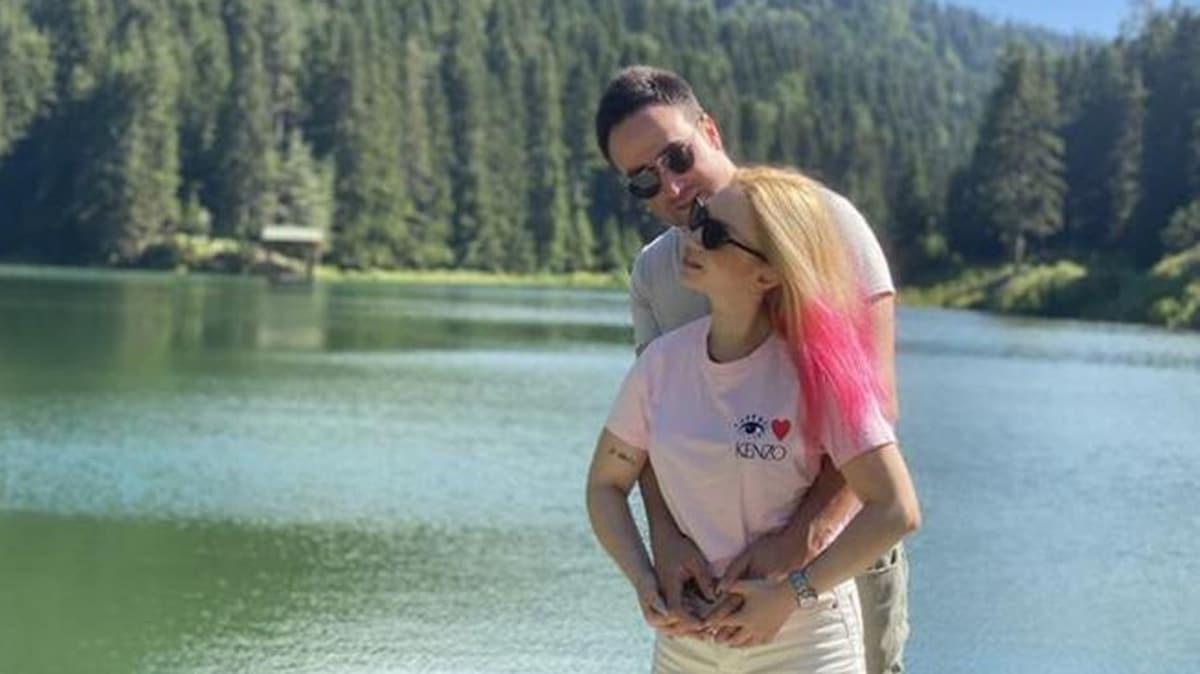 Ece Seçkin'den nişanlısına romantik kutlama