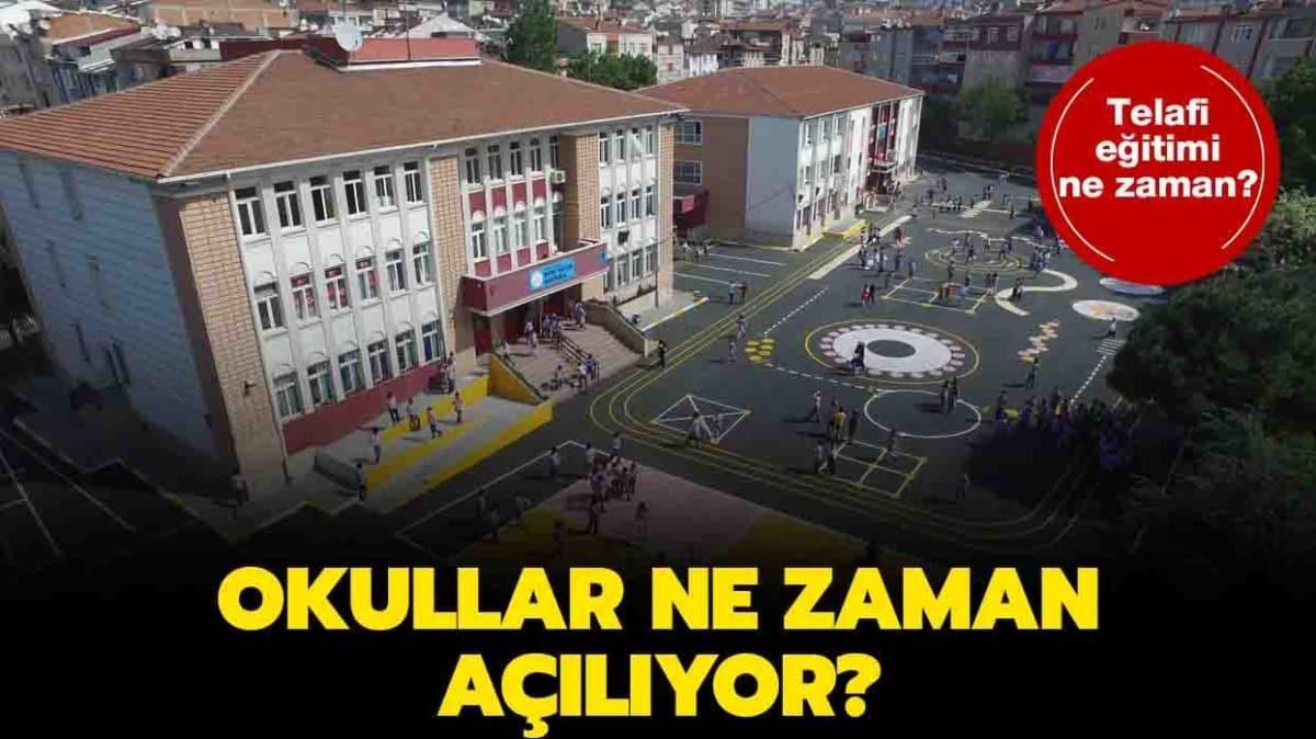 Bakan Ziya Selçuk'un okul açıklaması