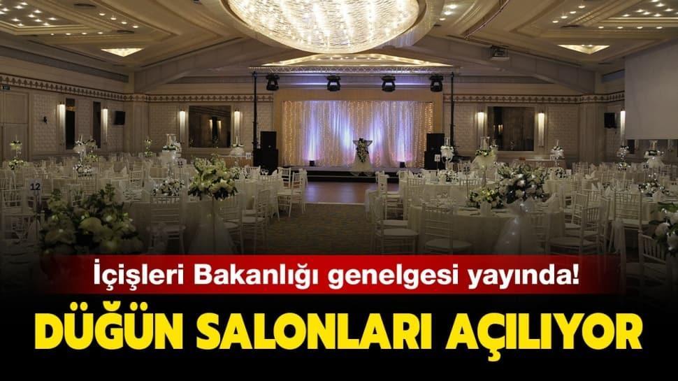 """İçişleri Bakanlığı düğün salonları genelgesi! Düğün salonları açıldı mı"""""""