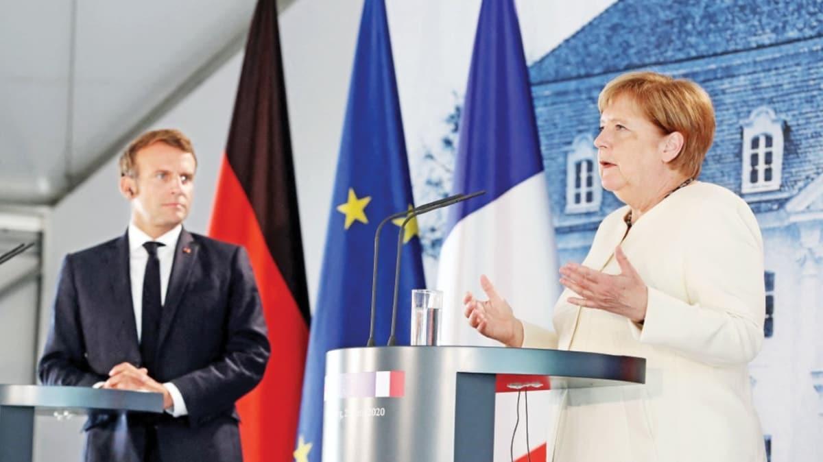 Merkel sessiz kaldı! Rusya-BAE sorulunca Macron cevap veremedi