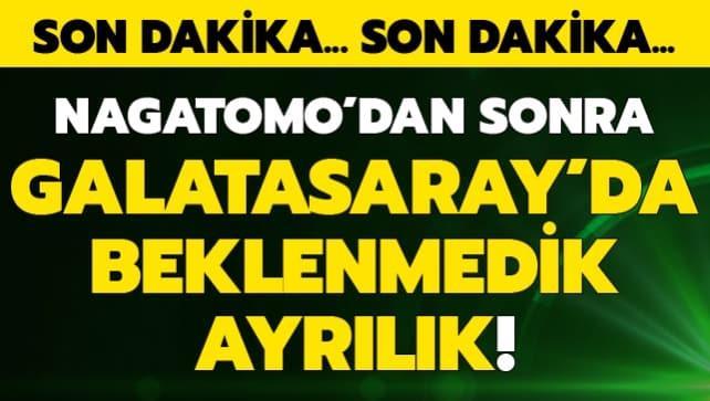 Nagatomo'dan sonra Galatasaray'da beklenmedik ayrılık