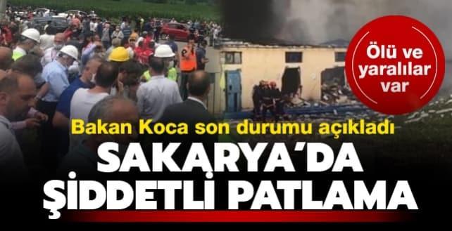 Son dakika haberi Sakarya'da havai fişek fabrikasında patlama meydana geldi