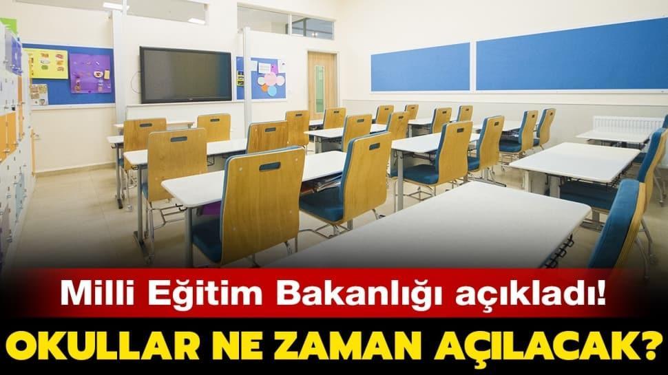 MEB okullar için tarih verdi!