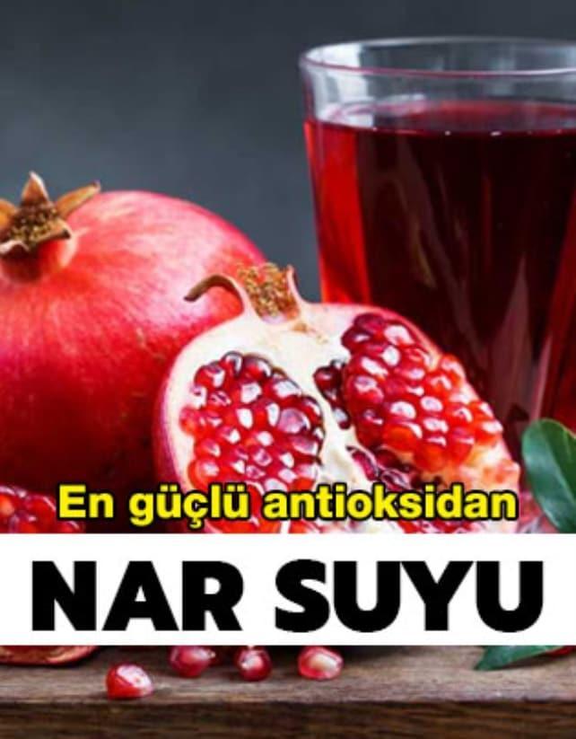 En güçlü antioksidan nar suyu