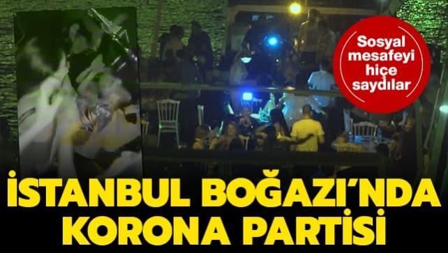 İstanbul Boğazı'nda korona partisi