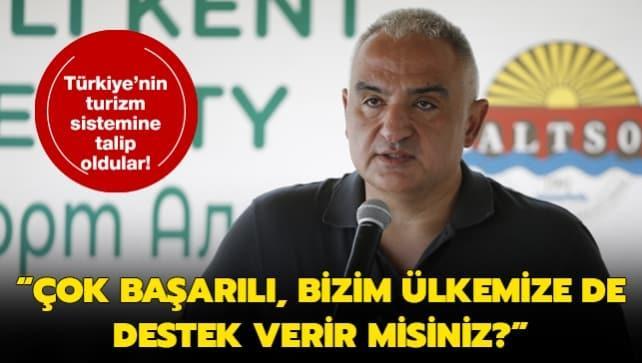 Türkiye'nin turizm sistemine talip oldular!