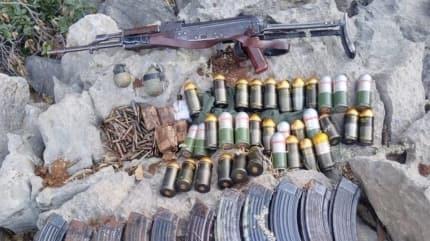 Terör örgütü PKK'ya ait mühimmat ele geçirildi