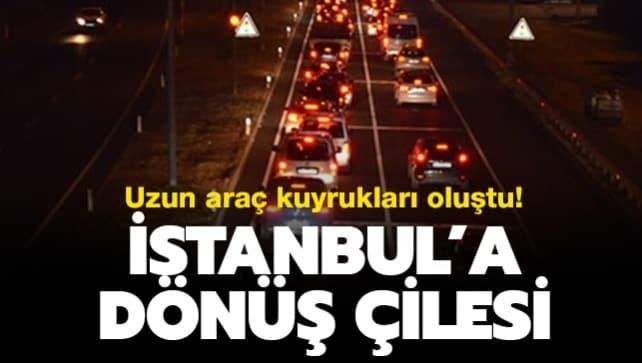 İstanbul'a dönüş çilesi... Uzun kuyruklar oluştu!
