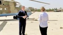 Ele geçirilen Rus helikopterinin önünde konuştu! Akar'dan Libya'da helikopterli mesaj