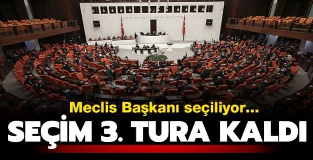 Meclis Başkanı seçiliyor... Oylamada ikinci tura geçildi