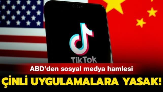 ABD'den sosyal medya hamlesi... Çinli uygulamalarını yasaklamaya hazırlanıyor!