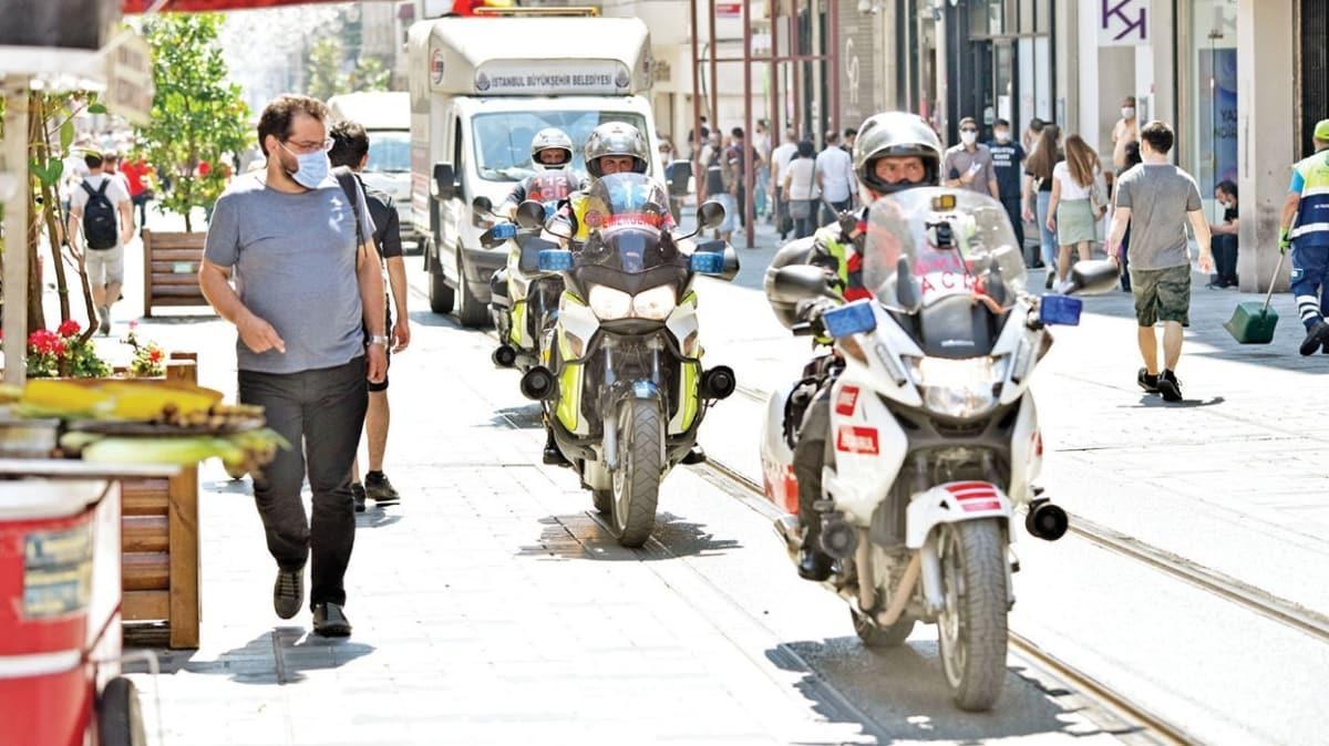 İstanbul trafiğine motorize ambulans