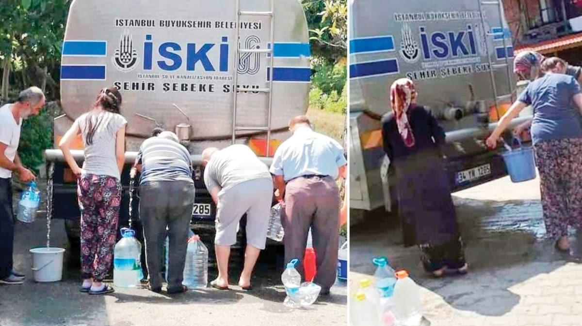 Vatandaştan İBB'ye tepki! İstanbul'da 90'lardan kalma su kuyruğu