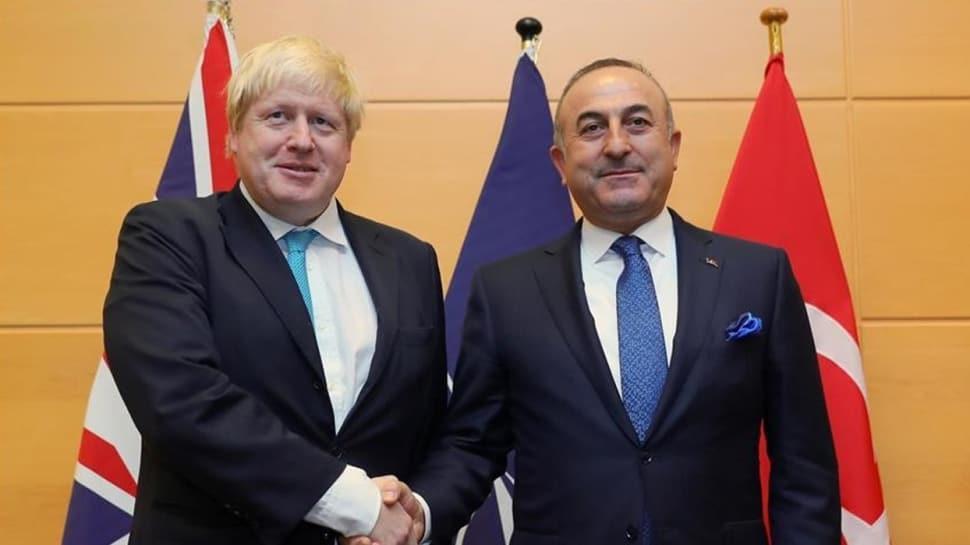 Dışişleri Bakanı Çavuşoğlu'ndan İngiltere Başbakanı Boris Johnson'a ziyaret