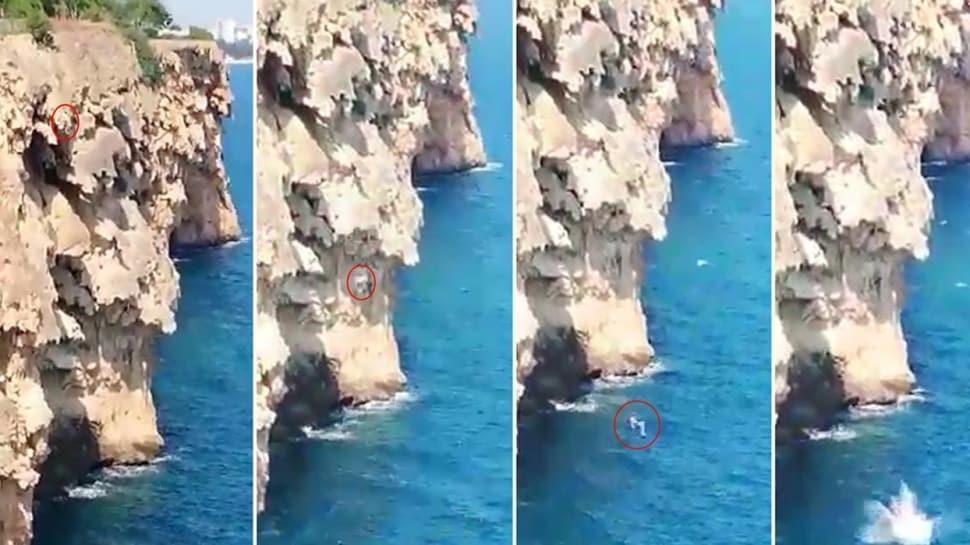 İddia için 40 metreden denize atladı! Feci şekilde can verdi