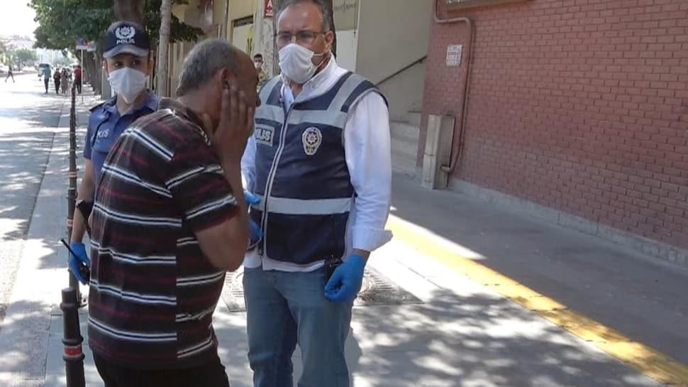 81 ilde denetimler yapıldı: Maskesiz yakalanan adam kendisini tokatladı