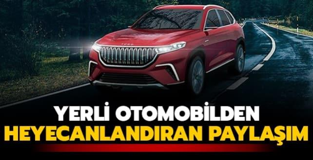 TOGG'dan Türkiye'nin Otomobili'ne ilişkin heyecanlandıran paylaşım
