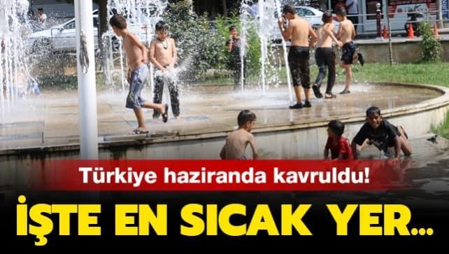 Türkiye haziranda kavruldu: 43,3 dereceyle Cizre en sıcak yer oldu