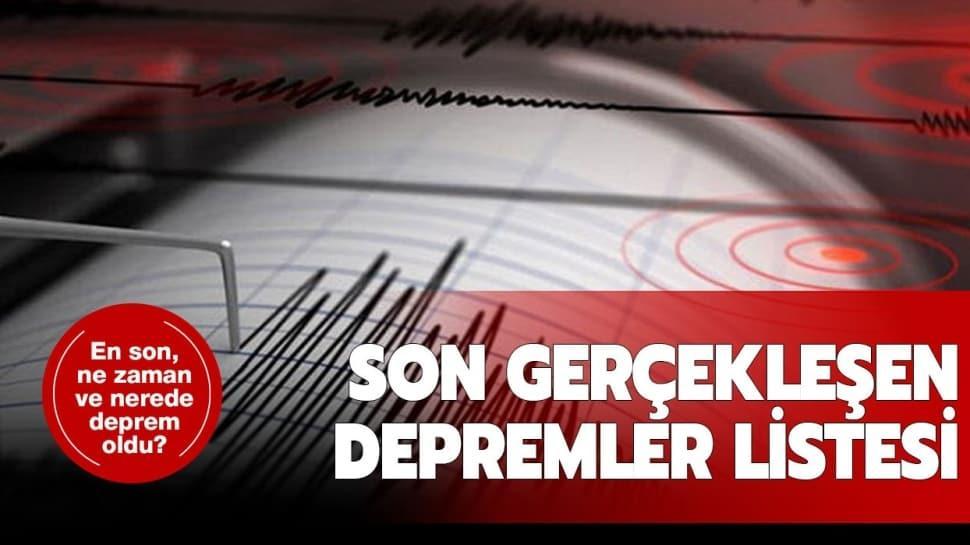 """Kandilli Rasathanesi son depremler listesi: 9 Temmuz deprem mi oldu"""""""
