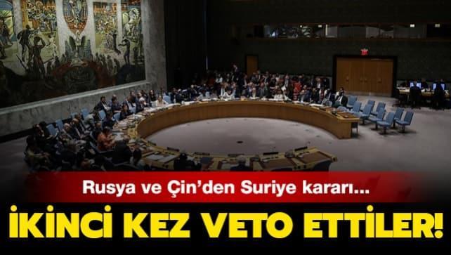 Rusya ve Çin, Türkiye üzerinden Suriye'ye uluslararası yardımların girişini veto etti!