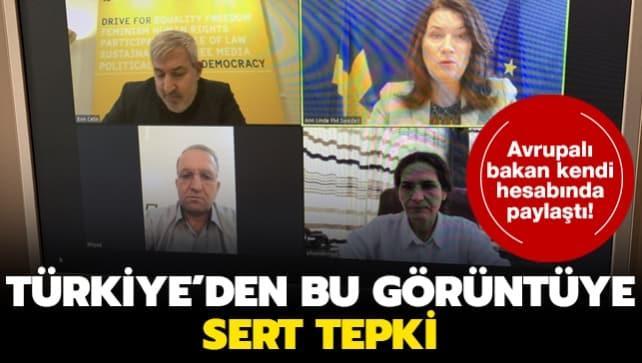 Türkiye'den, İsveçli bakanın terör örgütü PKK/PYD/YPG mensuplarıyla görüşmesine tepki