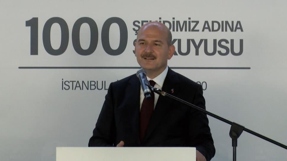 Bakan Soylu, '1000 Şehidimiz Adına 1000 Su Kuyusu Projesi'nin imza töreninde konuştu