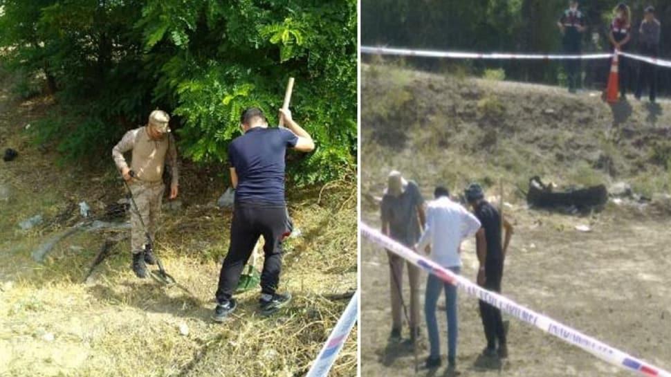 Kaza yerine kimse yaklaştırılmadı: Dedektörle altın arıyorlar