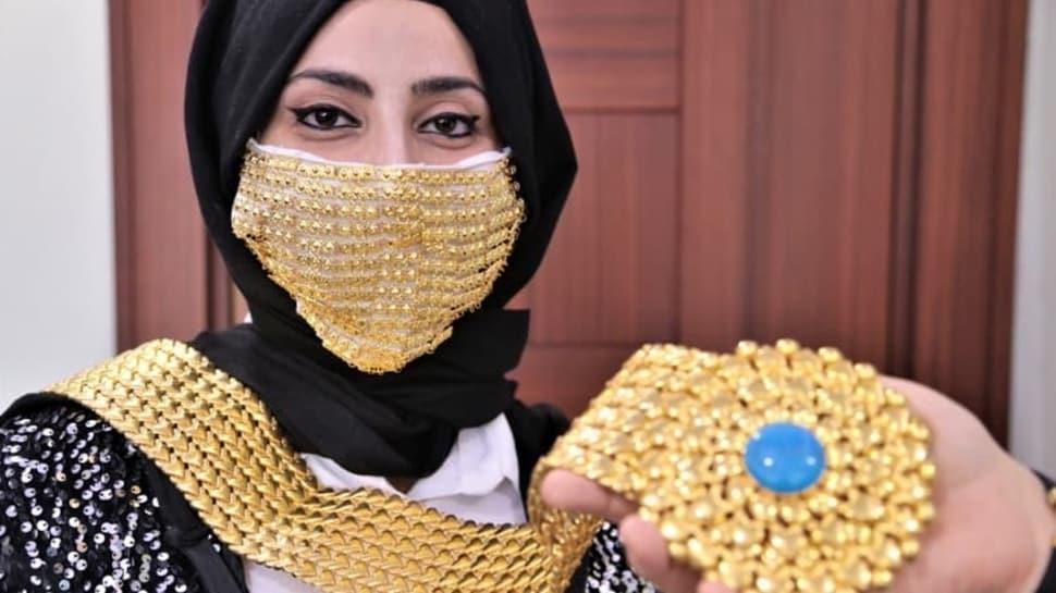 Gelinler için altın işlemeli maske üretildi: Fiyatı düğün salonun kirasından daha fazla