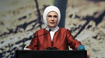 Emine Erdoğan'dan 'soykırım' mesajı