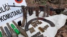 Muş'ta, PKK'nın depolarında mühimmat ele geçirildi