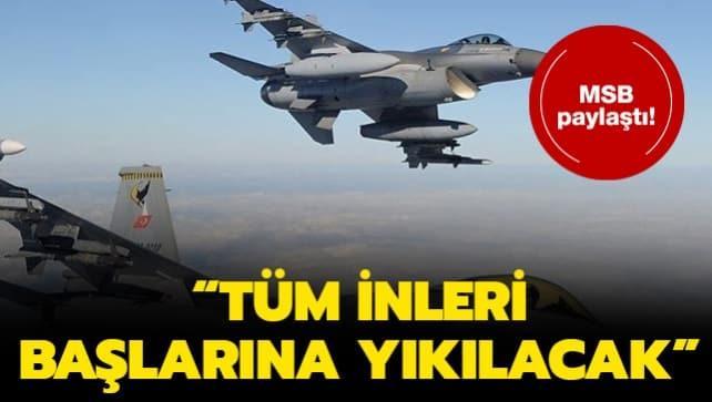 MSB duyurdu: Haftanin'a hava operasyonu