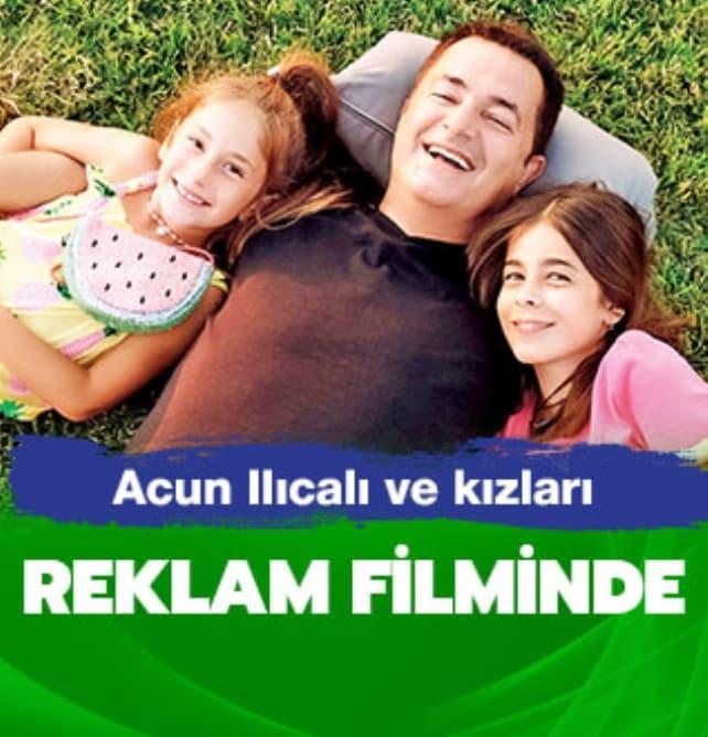 Kızlarıyla reklam filminde