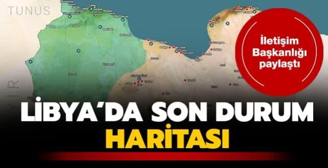 İletişim Başkanlığı paylaştı... Libya'da son durum