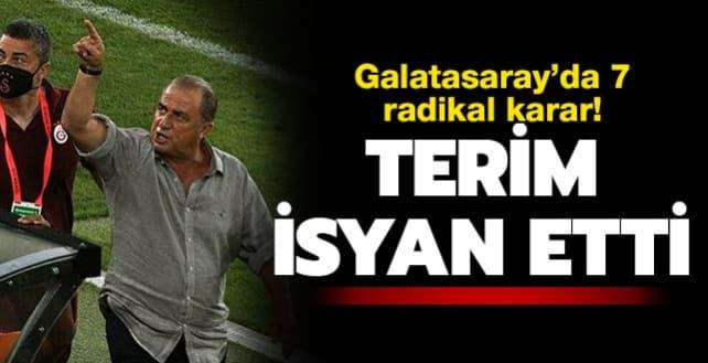 Galatasaray'da Terim radikal kararlar aldı