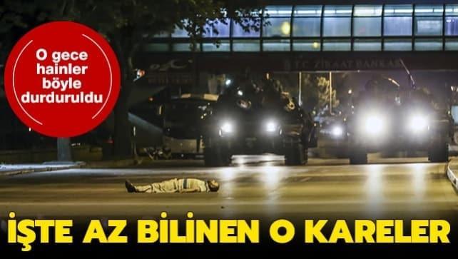 Türk halkının kahramanca direndiği 15 Temmuz darbe girişiminden kareler...