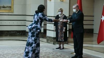 Fildişi Sahili Büyükelçisi Toure, Başkan Erdoğan'a güven mektubu sundu