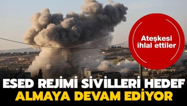 Esed rejimi İdlib'e saldırdı... iki sivil yaşamını yitirdi!