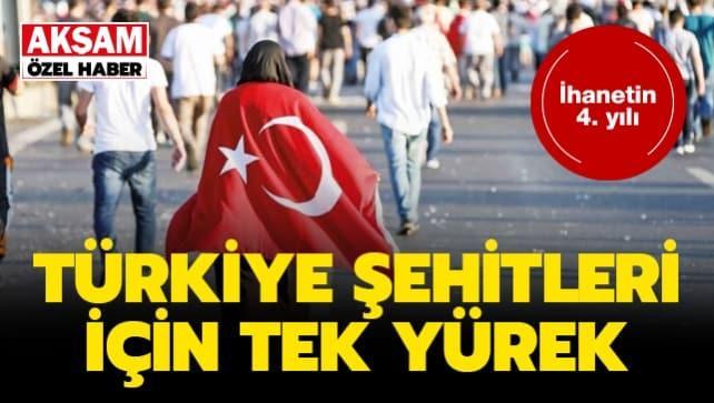 Türkiye şehitleri için tek yürek